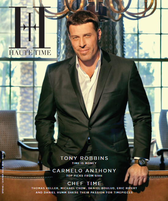 Tony Robbins on the Cover of Haute Time