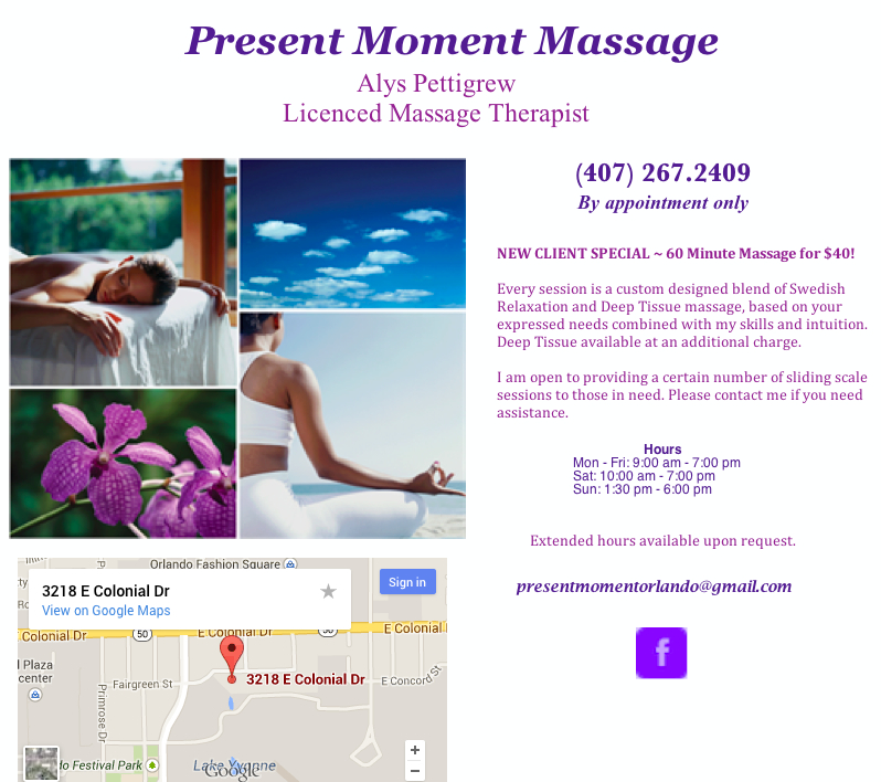 Alys Pettigrew Licenced Massage Therapist